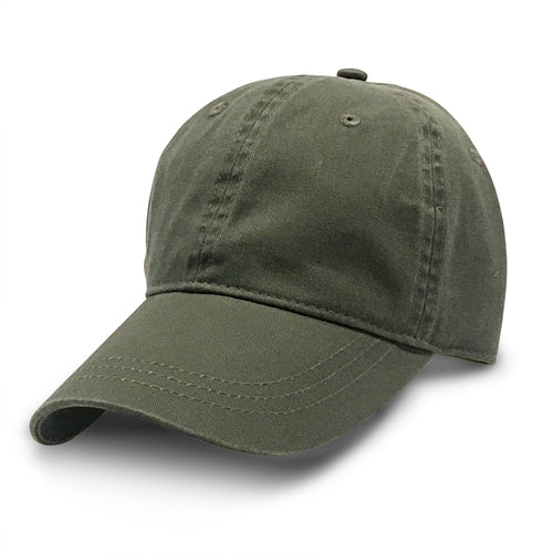 Green Unstructured Baseball Hats for Big Heads fits cap Sizes 3XL and 4XL