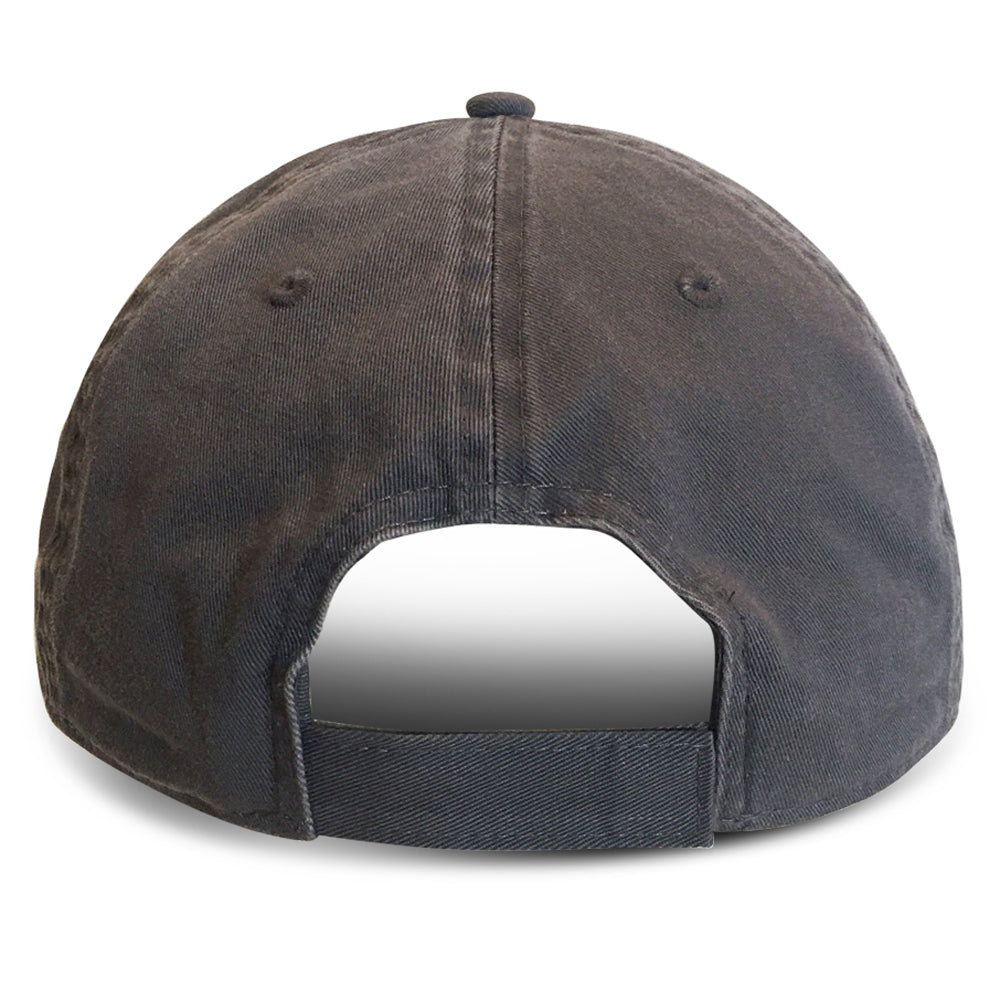 Grey Unstructured Baseball Hats for Big Heads fits cap Sizes 3XL and 4XL back view