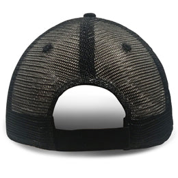 Black Trucker Hats for Large Heads backview