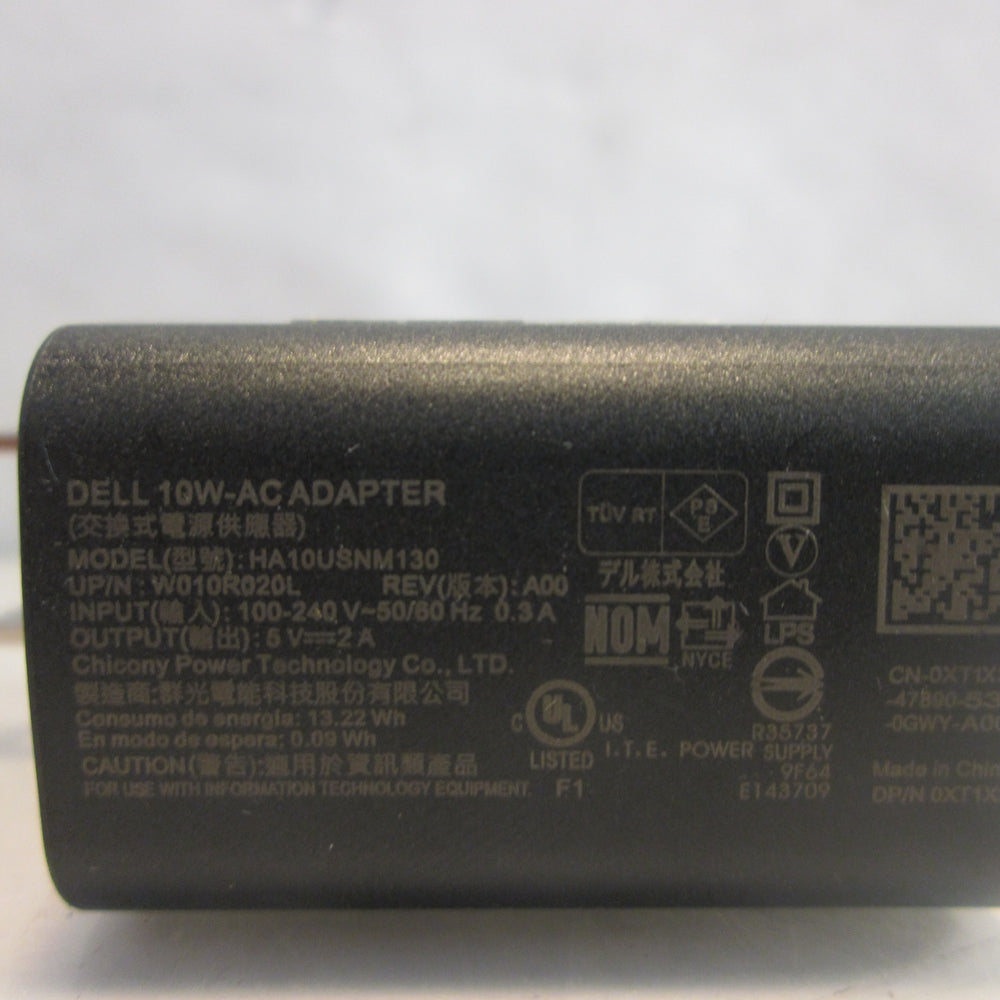Genuine Dell HA10USNM130 10W 5V USB Wall Charger & Cable