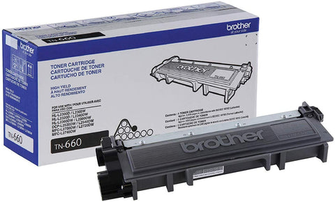 NEW Genuine/OEM Brother TN-660 Black Toner Cartridge