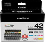 NEW Genuine/OEM Canon CLI-42 Professional Ink Cartridges 8pk for Pixma Pro-100