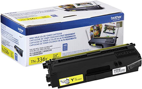 NEW Genuine Brother TN-336Y High Yield Yellow Toner Cartridge