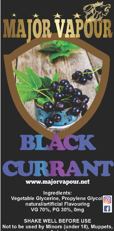 Black Currant | Major Vapour - Major Vapour