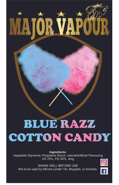 Blue Razz Cotton Candy - Major Vapour