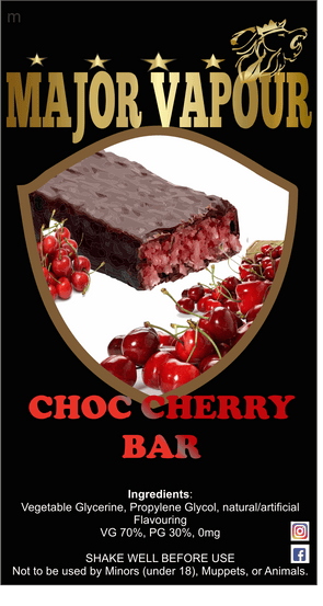 Choc Cherry Bar - Major Vapour