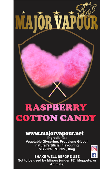 Raspberry Cotton Candy | Major Vapour - Major Vapour