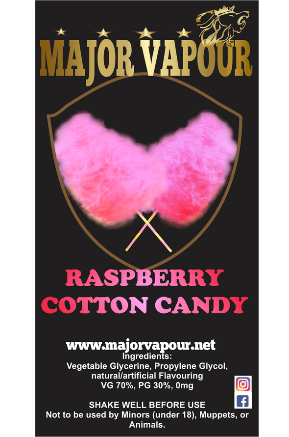Raspberry Cotton Candy - Major Vapour