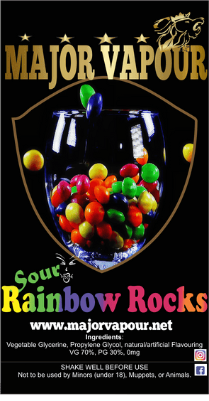 Sour Rainbow Rocks - Major Vapour