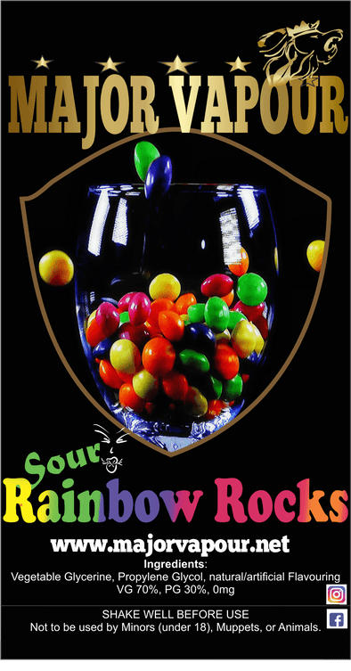 Sour Rainbow Rocks | Major Vapour - Major Vapour