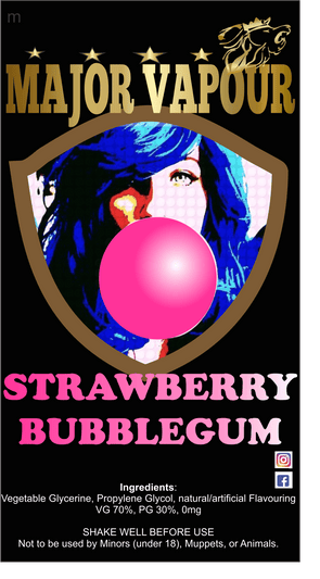 Strawberry Bubblegum - Major Vapour