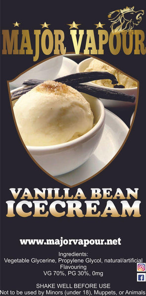 Vanilla Bean Ice Cream - Major Vapour