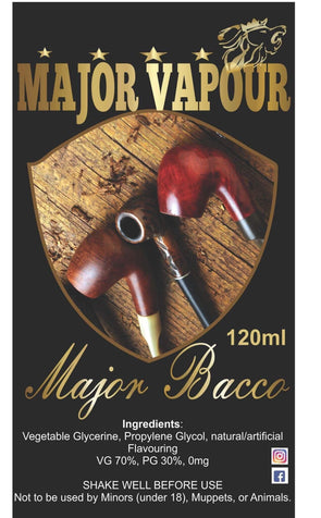 Major Bacco | Major Vapour - Major Vapour