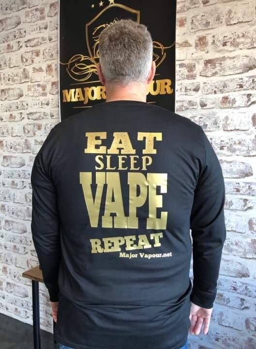 T Shirt Eat Sleep Vape Repeat | Major Vapour - Major Vapour