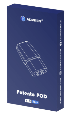 Advken Potento Pod Cartridge (3pk)- Mesh| Major Vapour