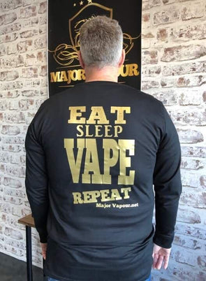 Major Vapour - Eat, Sleep, Vape, Repeat Shirt | Major Vapour