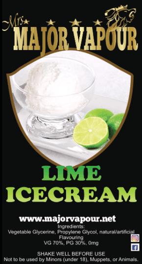 Lime Ice Cream - Major Vapour