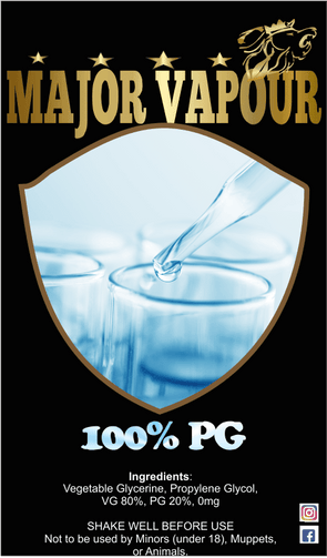 100% PG 500ML | Major Vapour - Major Vapour