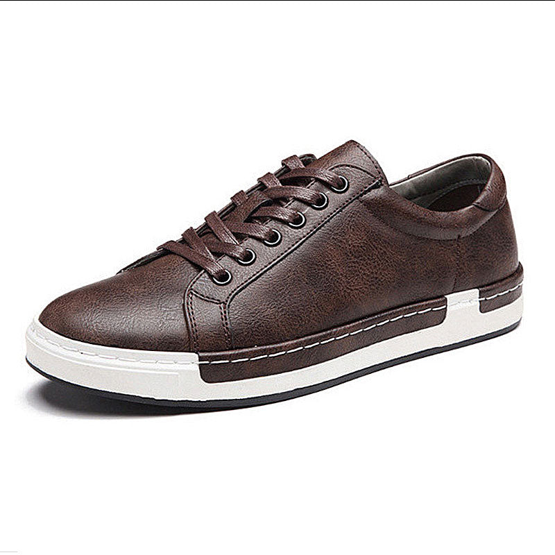 Microfiber Leather Handmade Lace-up Shoes