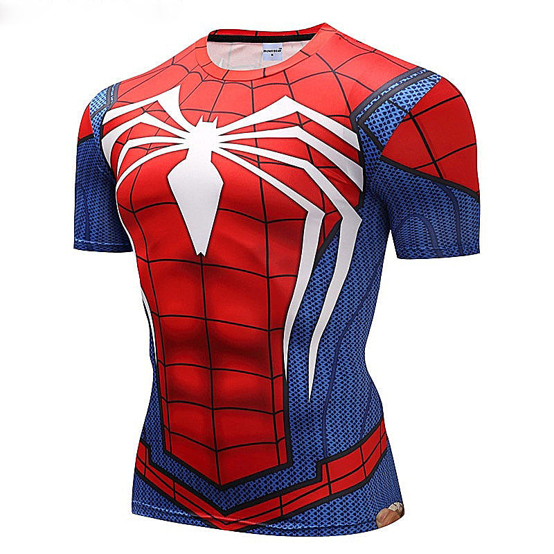 3D Spiderman Short-Sleeve T-Shirt
