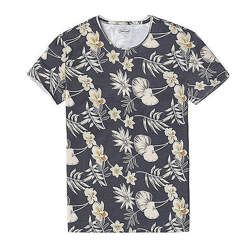 100% Pure Cotton Floral Pattern T-Shirt