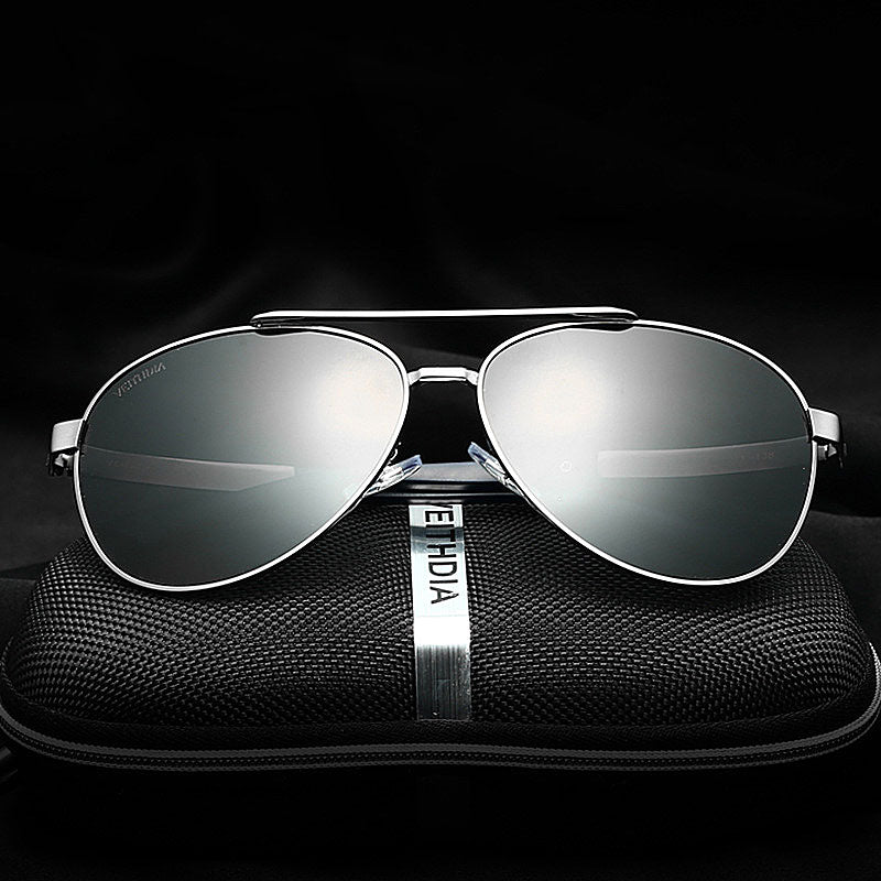 UV400 Alloy Frame Polarized Sunglasses