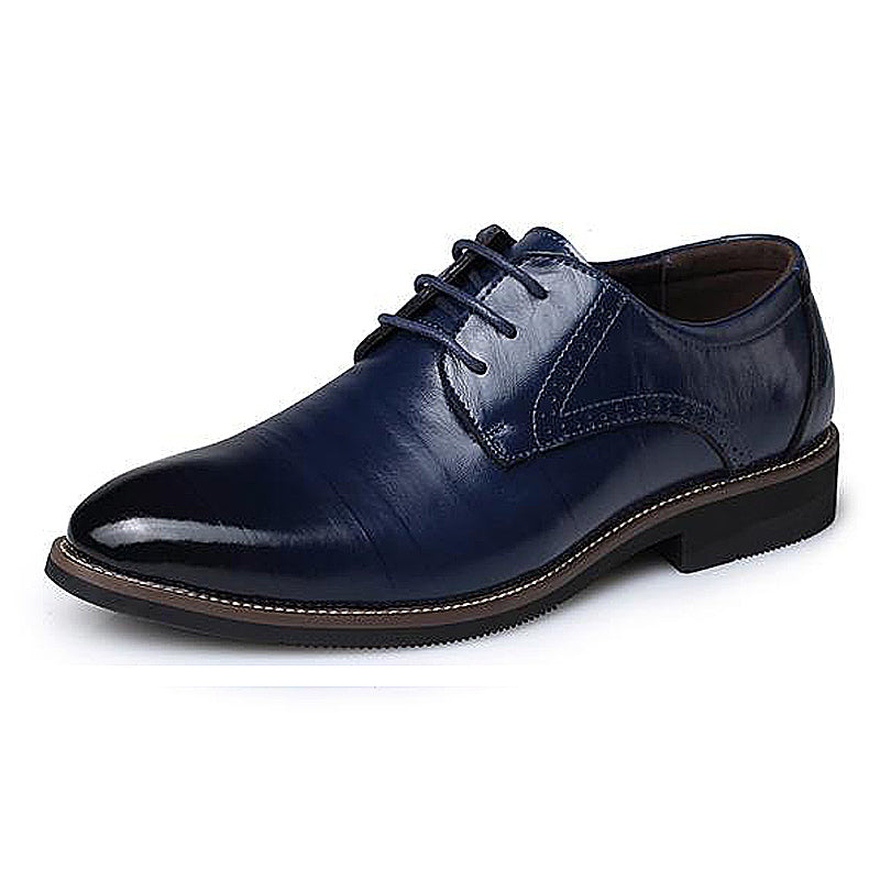 Lace-Up Velvet Business Shoes