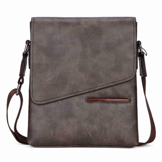 Vintage Frosted Leather Messenger Bag