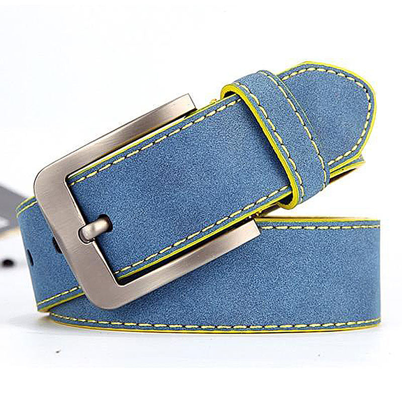 Fashion Genuine Leather Pin Buckle Belt