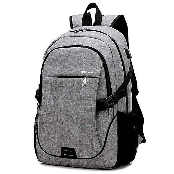 Large Capacity Canvas USB Backpack