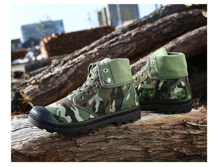 Army Combat Style Ankle Boots
