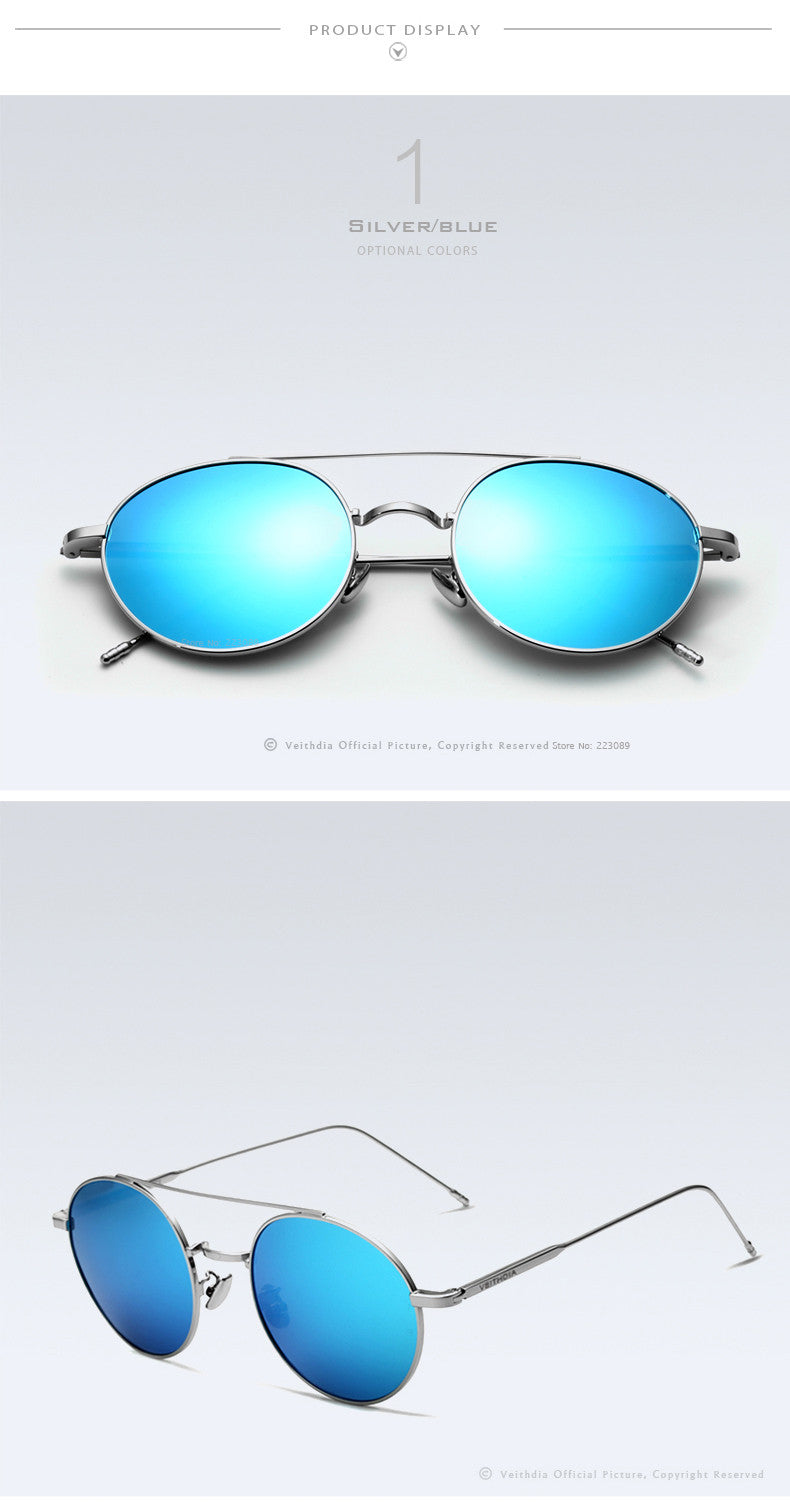 Unisex Round Polarized Sunglasses