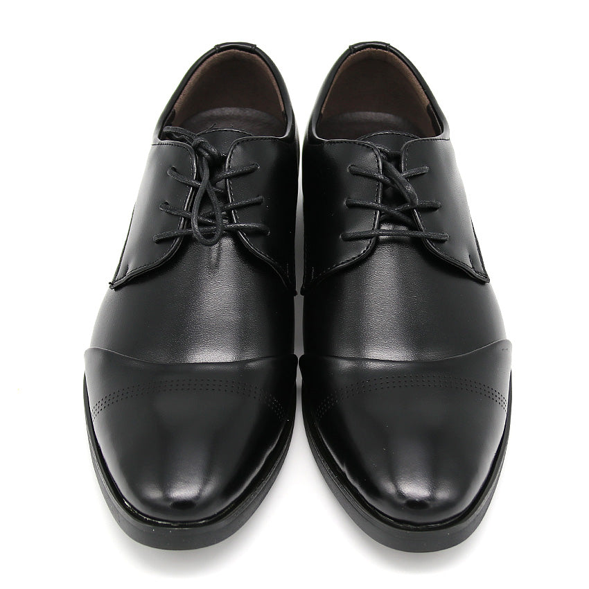 England Style Leather Black Busines Shoes