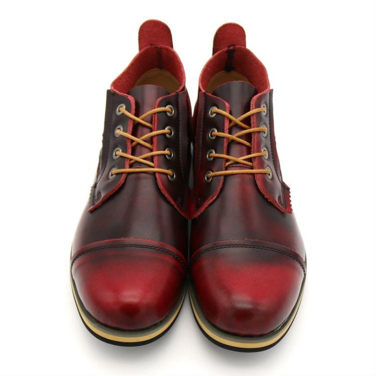 Handmade Genuine Leather  Lace-Up Ankle Boots
