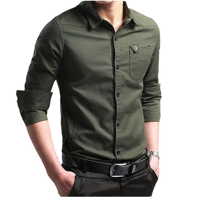 Breathable Solid Color Long-Sleeves Shirt