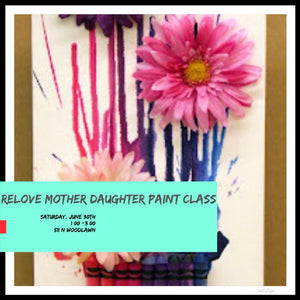 Mother, Daughter Paint Class