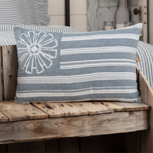 SAWYER MILL BLUE FLAG PILLOW 14X22