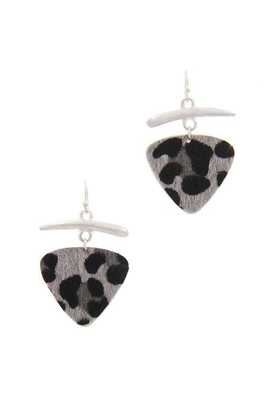 Animal Print Drop Earring