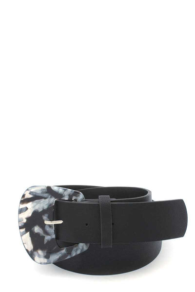 Aceate Buckle Pu Leather Belt