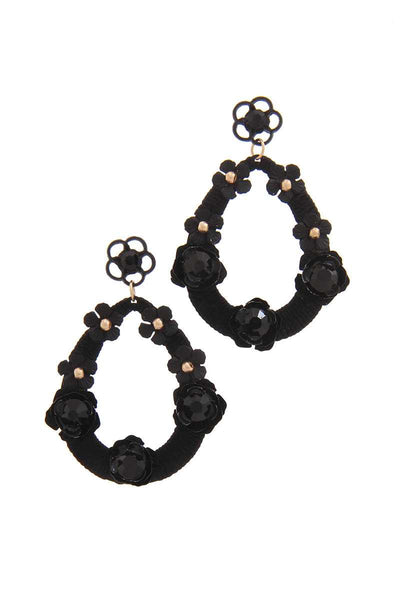 Floral Post Drop Earring
