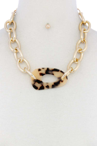 Acetate Oval Necklace