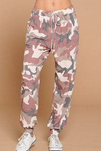 Camo Army Printed French Terry Casual Loungewear Joggers
