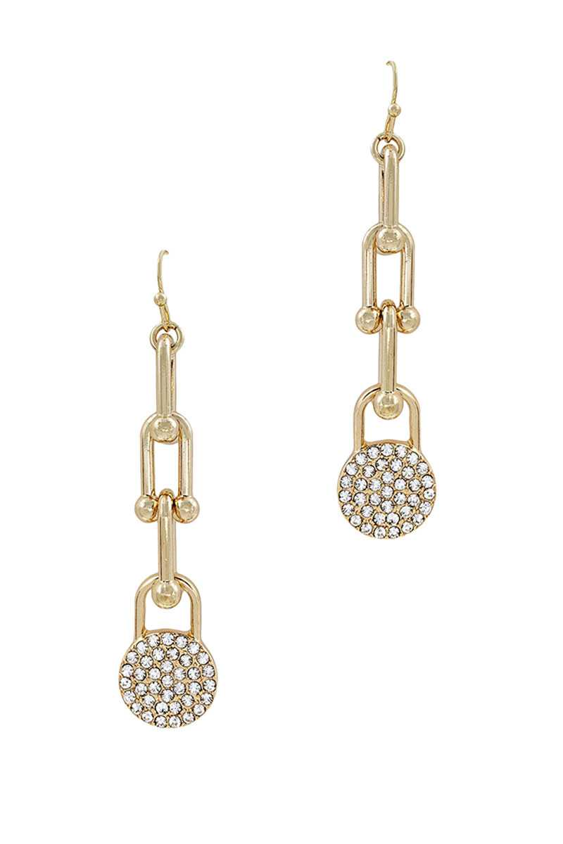 Chic Fashion Chain Drop And Rhistone Earring
