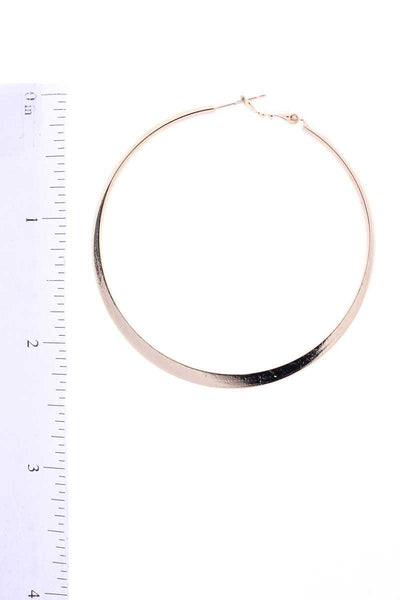 14k Gold Dipped Basic Metal 60mm Hoop Earring