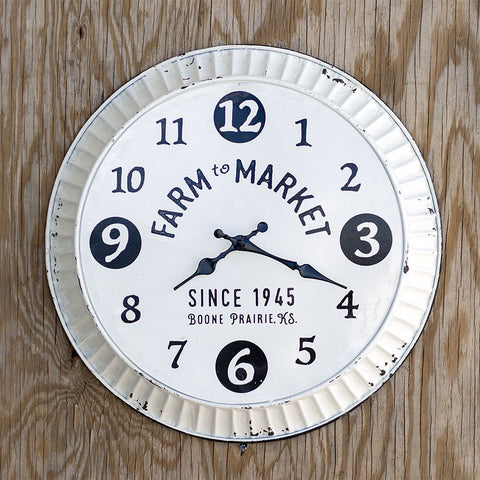 Farm To Market Bottle Cap Clock