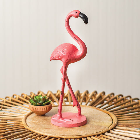 Cast Iron Flamingo Statue