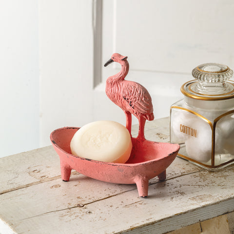 Cast Iron Flamingo Soap Dish
