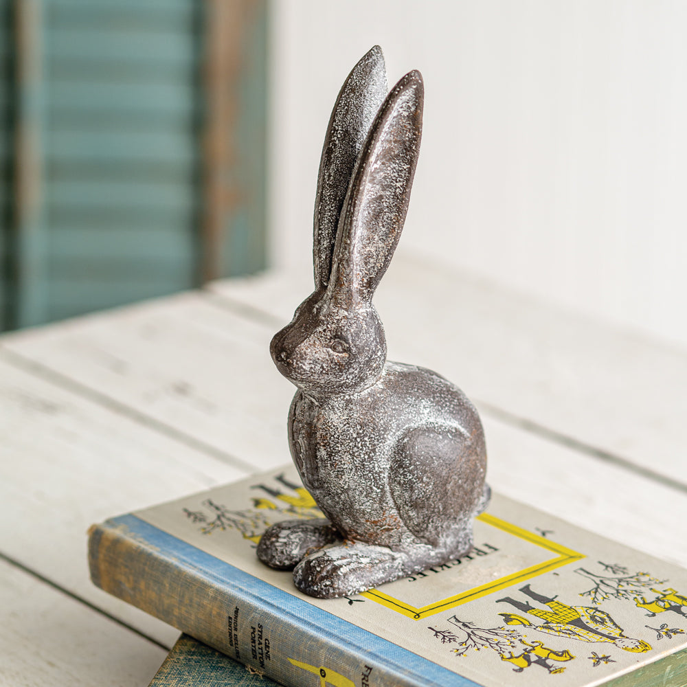 Cast Iron Hare Statue