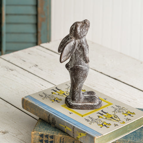 Cast Iron Rabbit Statue