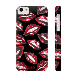 Red Lips Slim Phone Case